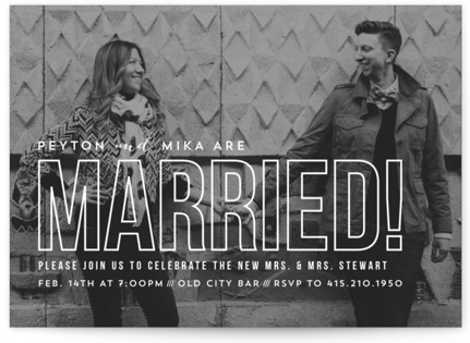 Modern Romantic Wedding Announcements
