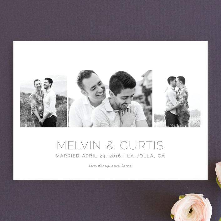 """""""Oh So Dreamy"""" - Wedding Announcements in Charcoal Grey by Shirley Lin Schneider."""