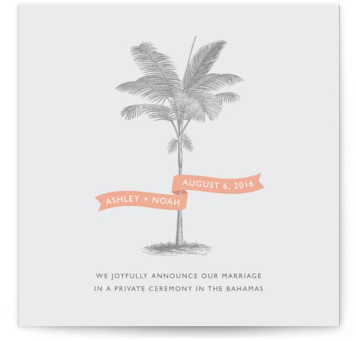 Palm Wedding Announcements