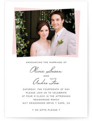Romantic Frame Wedding Announcements
