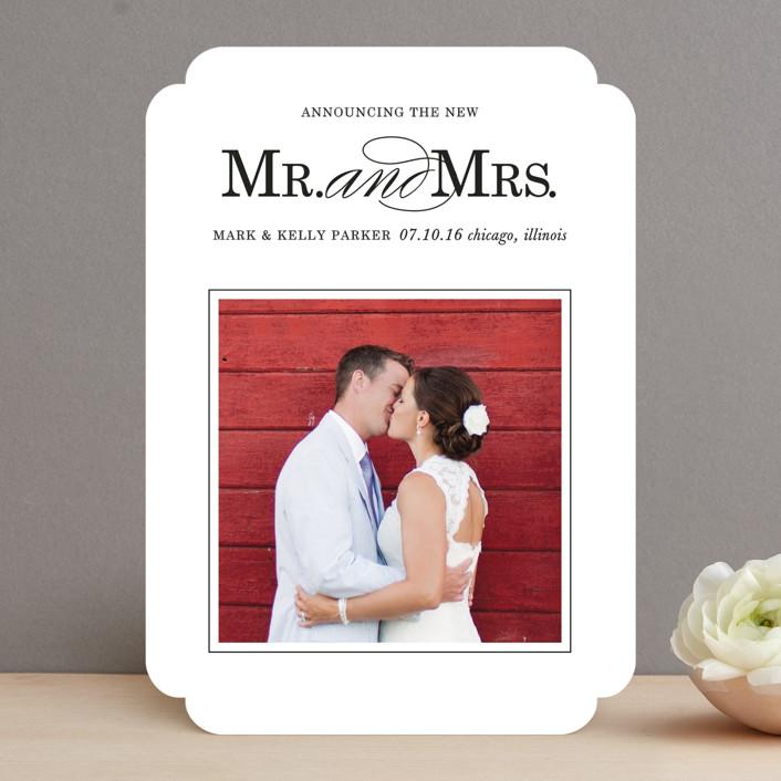 """Same Last Name"" - Classical Wedding Announcements in Coal by Leslie Ann Jones."