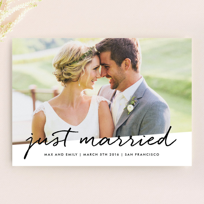 """""""Scripted"""" - Simple Wedding Announcements in Cloud by roxy."""