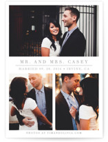 This is a grey wedding announcement by Giselle Zimmerman called The Simple Things with standard printing on signature in standard.