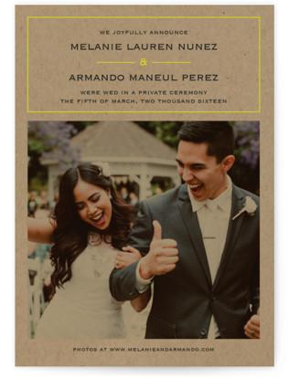 Vintage Kraft Wedding Announcements