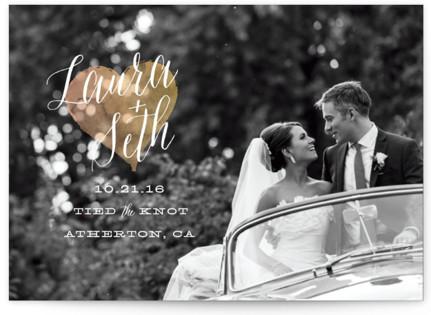 Watercolor Heart Wedding Announcements