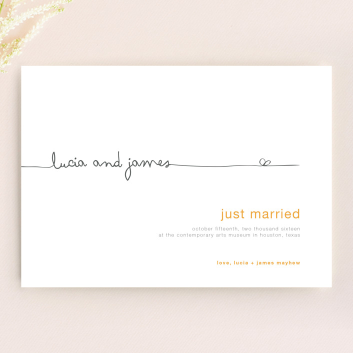"""""""The Happy Couple"""" - Whimsical & Funny Wedding Announcements in Yellow by R studio."""