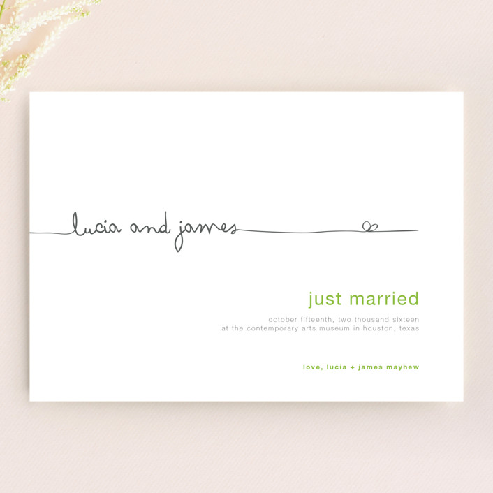 """""""The Happy Couple"""" - Wedding Announcements in Yellow by R studio."""