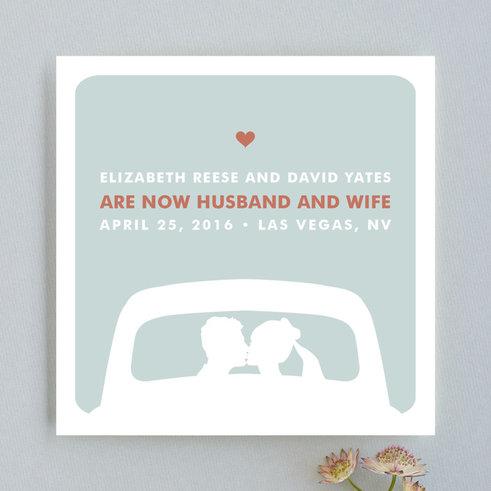 just married Wedding Announcements by Three Kisses Studio | Minted