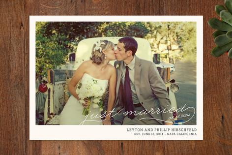 Vintage Photograph Wedding Announcements