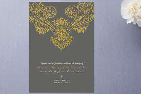 Spanish Lace Wedding Announcements