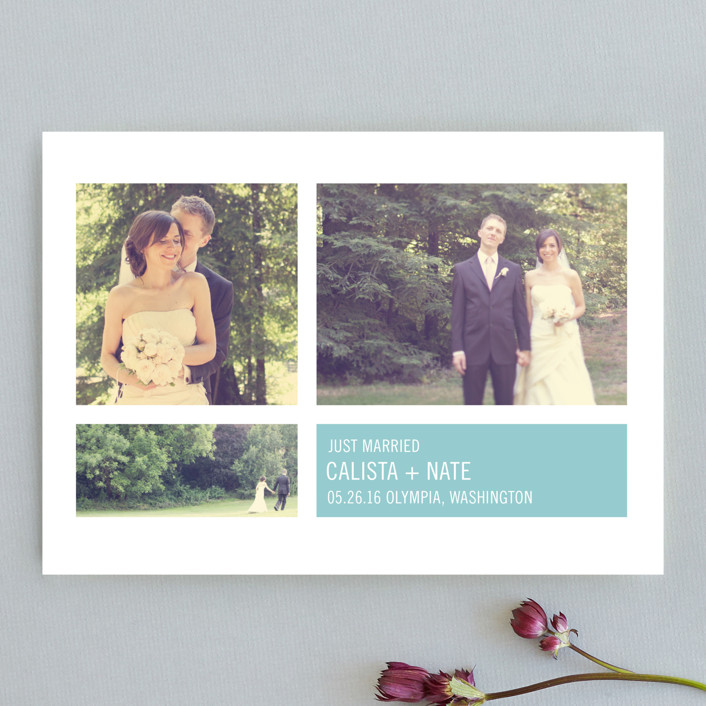 """""""Modern Geometric Group"""" - Formal, Classical Wedding Announcements in Sky by Precious Bugarin Design."""