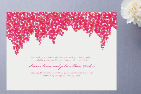 Bougainvillea Wedding Announcements