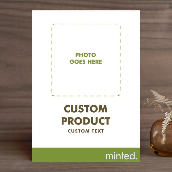 """""""Portrait"""" - Wedding Announcements in Charcoal by Minted Custom."""