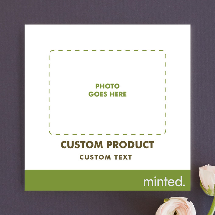 """""""Square"""" - Wedding Announcements in Charcoal by Minted Custom."""