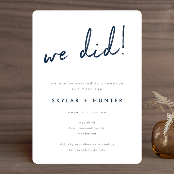 """""""Funky Names"""" - Wedding Announcements in Navy by Phrosne Ras."""