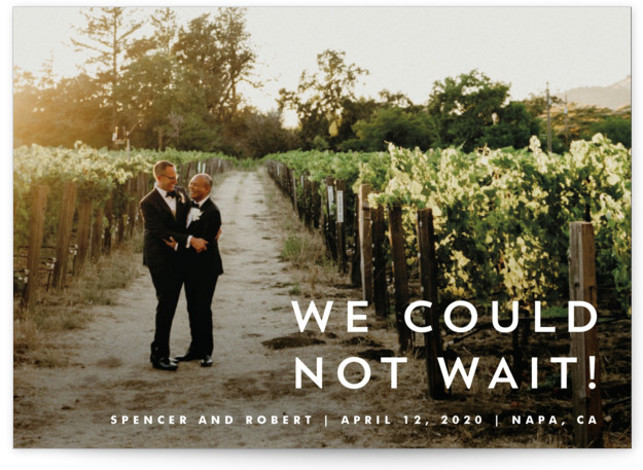 Modern Offset Wedding Announcements