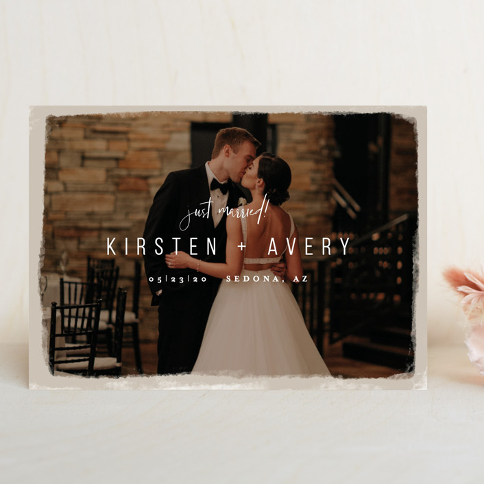 """Kindred"" - Wedding Announcements in Nutmeg by Melissa Egan of Pistols."