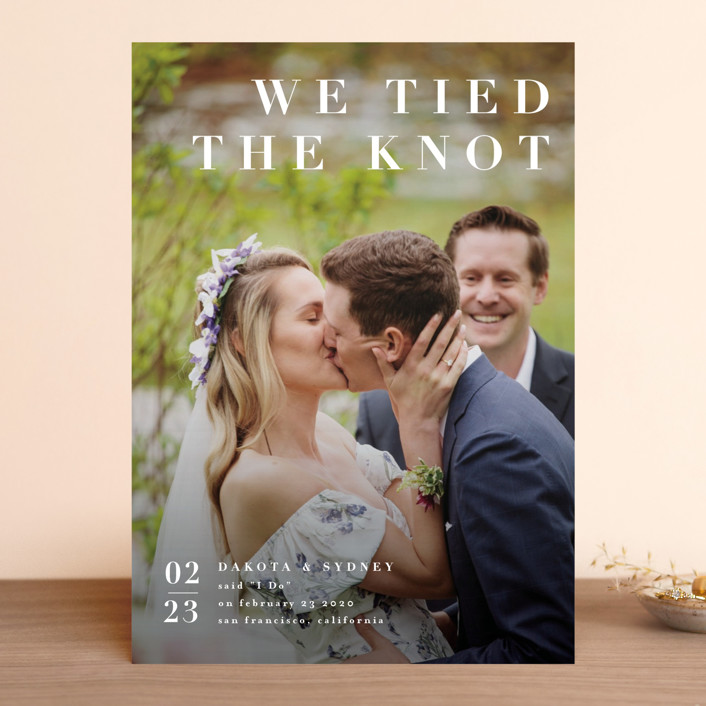 """""""minimalism"""" - Wedding Announcements in Ivory by Four Wet Feet Studio."""