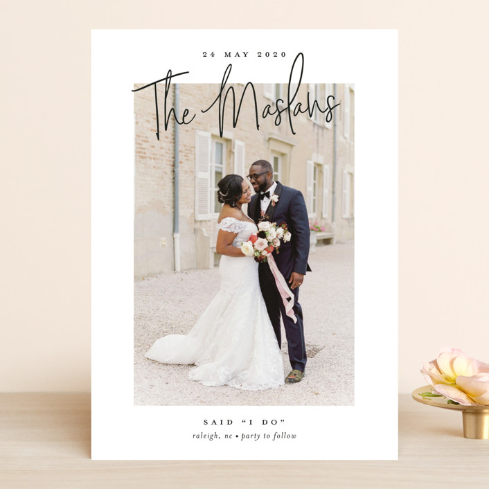 """""""Signature names"""" - Wedding Announcements in Pencil by Stacey Meacham."""