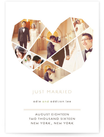 This is a portrait modern, brown Wedding Announcements by fatfatin called Complete Love with Standard printing on Signature in Postcard Flat Card format. Smart and chic, our indie designed postcards let you share your exciting news with friends and family ...