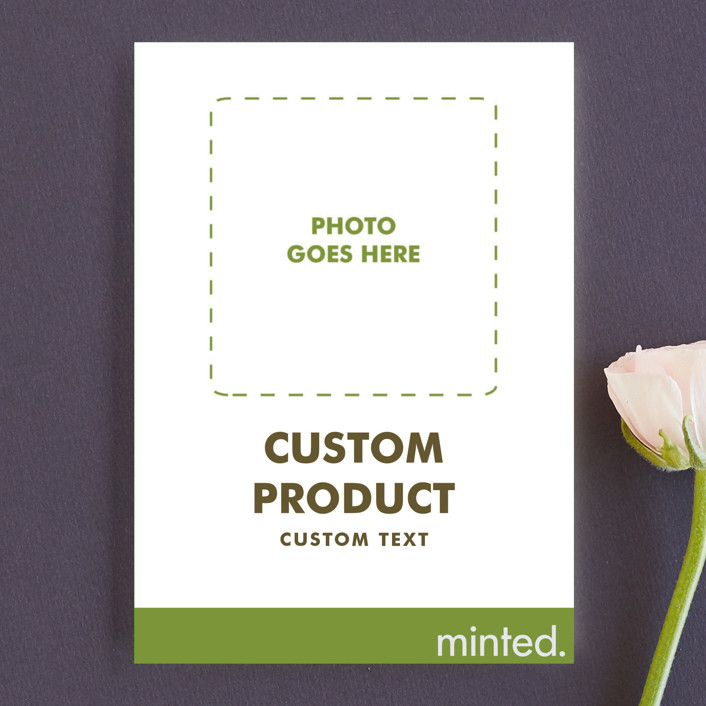 """""""Portrait"""" - Wedding Announcement Postcards in Charcoal by Minted Custom."""