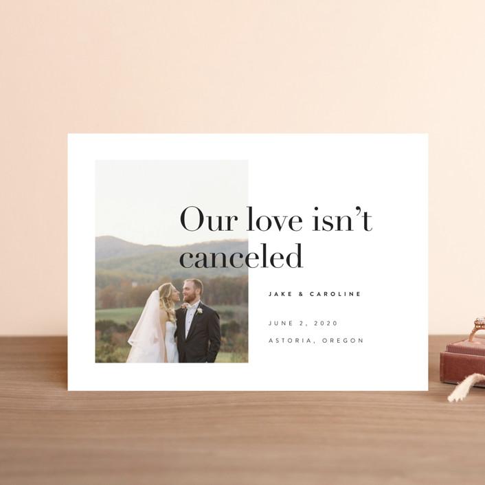 """""""Frankie"""" - Wedding Announcement Postcards in Ink by Karen Schipper."""
