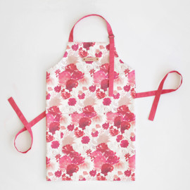This is a pink apron by Lori Wemple called Cheery Garden.