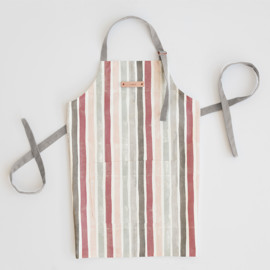 This is a red apron by Wildfield Paper Co. called Candy Cane Stripes.