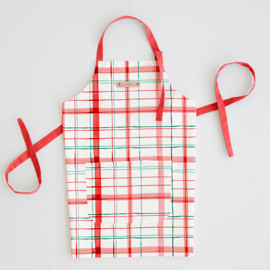 This is a red apron by Creo Study called Fun plaid.
