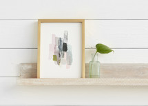 The Artful Shelf™ - Whitewashed Herringbone