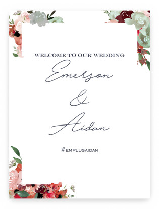 cascading florals Large Signs