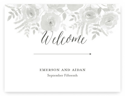 watercolor floral Large Signs
