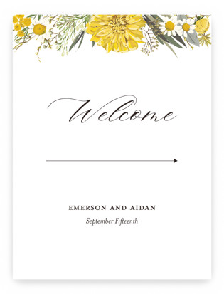 Organic Florals Large Signs