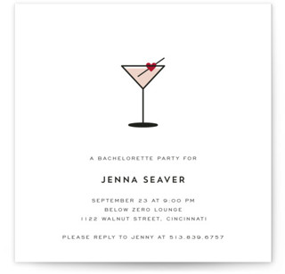 Love Cocktail Bachelorette Party Invitations