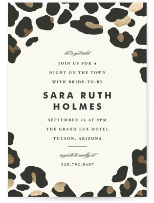 On The Wild Side Bachelorette Party Invitations