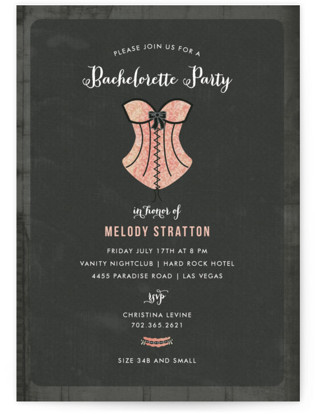Corset Bachelorette Party Invitations