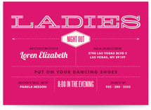 This is a pink bachelorette party invitation by Monica Tuazon called Ladies Night with standard printing on signature in standard.