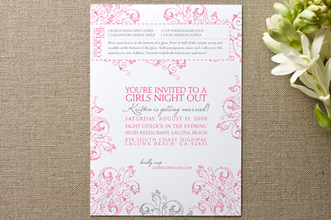 Recipe Bachelorette Party Invitations