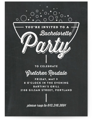 A Little Bubbly Bachelorette Party Invitations