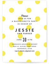This is a yellow bachelorette party invitation by Jill Means called Modern Fun with standard printing on signature in standard.