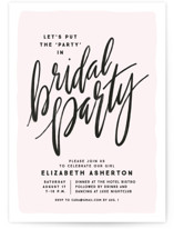 This is a pink bachelorette party invitation by Lea Delaveris called bridal party party with standard printing on signature in standard.