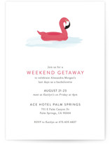 This is a pink bachelorette party invitation by Sarah Brown called Float with standard printing on signature in standard.