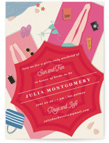 This is a red bachelorette party invitation by Creo Study called sun and fun with standard printing on signature in standard.