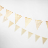 This is a brown wedding garland by Minted called Natural Triangle 10-ft..