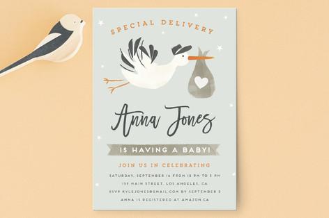 Stork Delivery Baby Shower Postcards