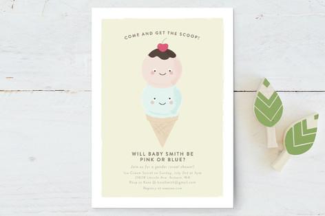Get the Scoop Baby Shower Postcards