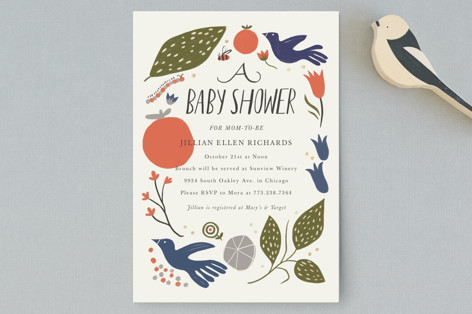Birds and the Bee Baby Shower Postcards