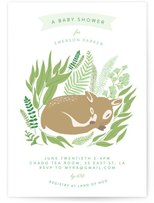 Forest Fawn Baby Shower Postcards