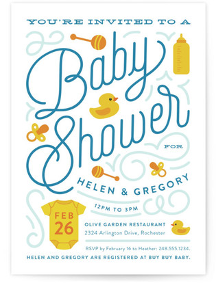 Splash Baby Shower Postcards