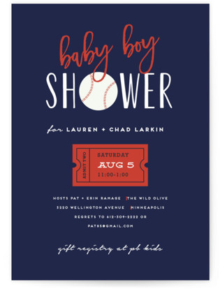 Baseball Baby Shower Postcards